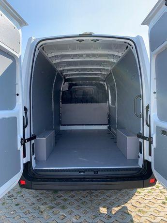 Zabudowa busa furgonu Peugeot Boxer L3H2 zabudowa sklejka