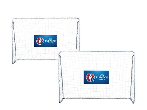 2x bramka piłkarska zestaw bramek bramki piłkaskie METALOWE 125cm 2szt