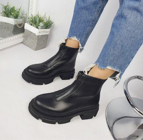 Ботинки демисизонные, натуральная кожа с 37 по 40 размер