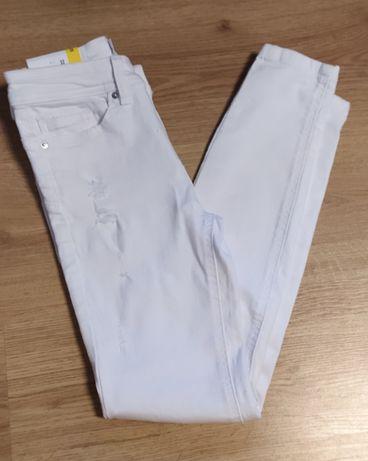 Jeansy białe skinny push up Sinsay 32