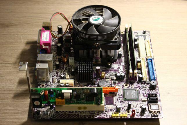Материнская плата АМ2 с видео + процессор + 4Гб ОЗУ
