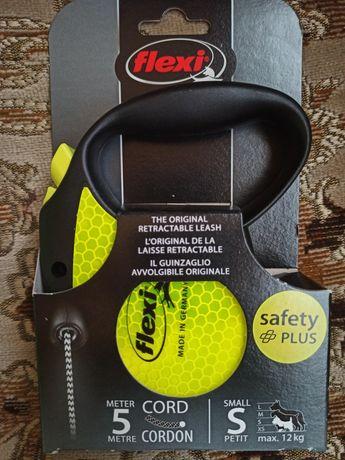 Nowa smycz automatyczna Flexi Safety Plus odblaskowa 5 M S do 12kg
