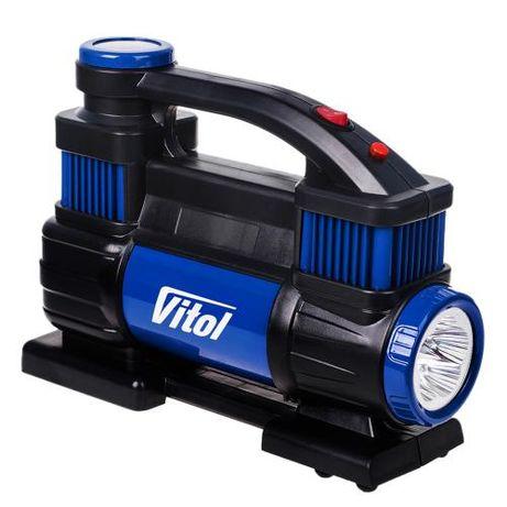 "Компрессор ""ViTOL"" K-70 150psi/23Amp/90л/2 цилиндра/шланг 5,0м/клеммы"