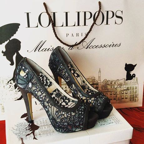 Sapatos lollipops com Purpurina_Novos