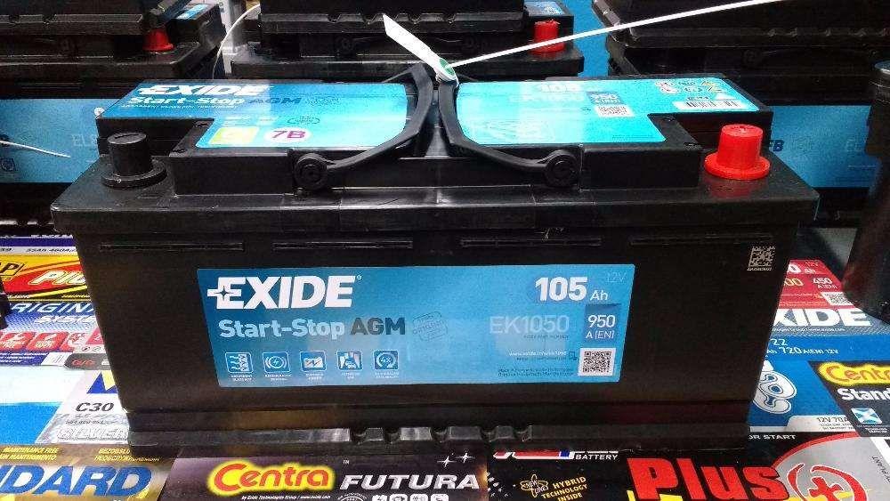 Akumulator Exide Start-Stop EK1050 AGM 105Ah 950A P+ Kraków CK1050 Kraków - image 1