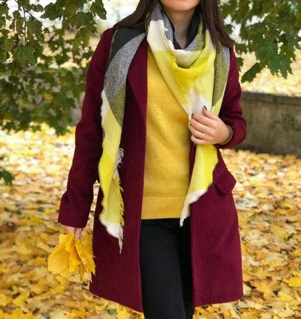 Продам пальто, цвет марсала, оверсайз