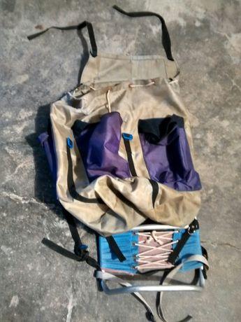 mochila campismo de costas