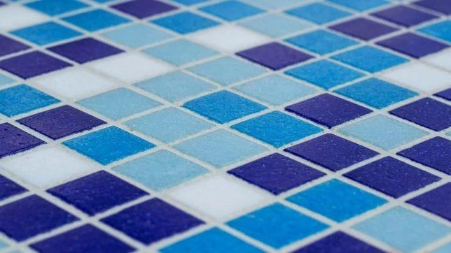 Мозаїка в басейн на або сітці Паперу, (плитка). Склад