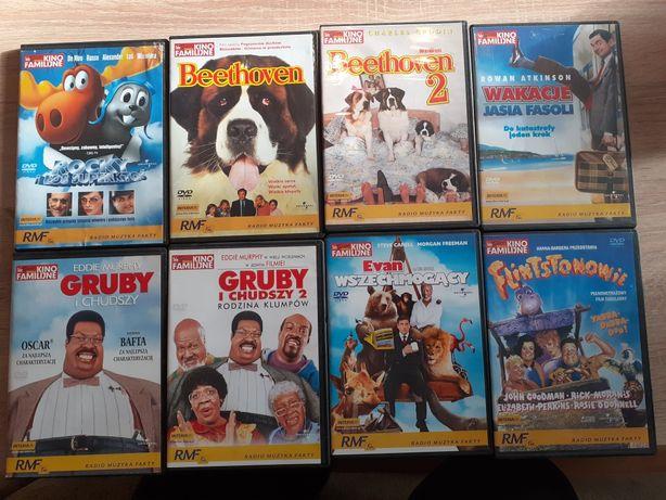 8 filmów DVD, kino familijne, komedie, gruby i chudszy i inne