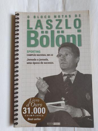 """Livro """" O bloco de notas de Laszlo Bölöni."""