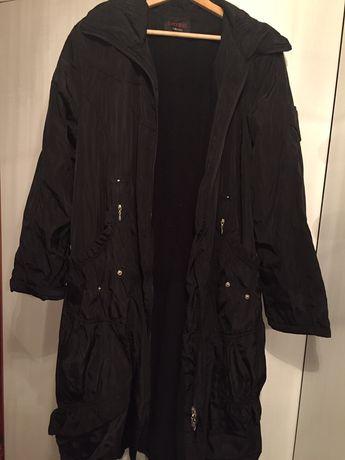 Czarna kurtka długa zimowa ocieplana jesienna rozmiar 46 XXL XXXL