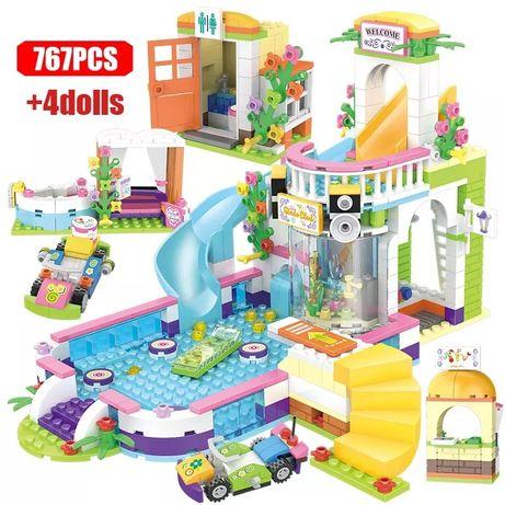 Impreza na basenie z LEGO Friends kompatybilne 41374 klocki