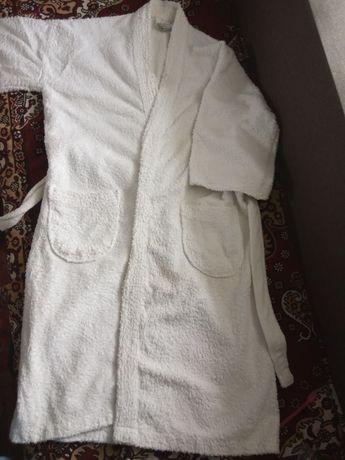 Халат махровый белый