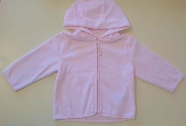 Кофта для девочки кардиган худи флиска флісова кофта 74 см Mothercare