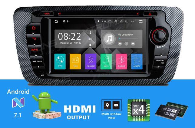 "Rádio Seat Ibiza 6J Android 7.1 Quad-Core Ecrã 7"" HD 2GB RAM Wifi GPS"