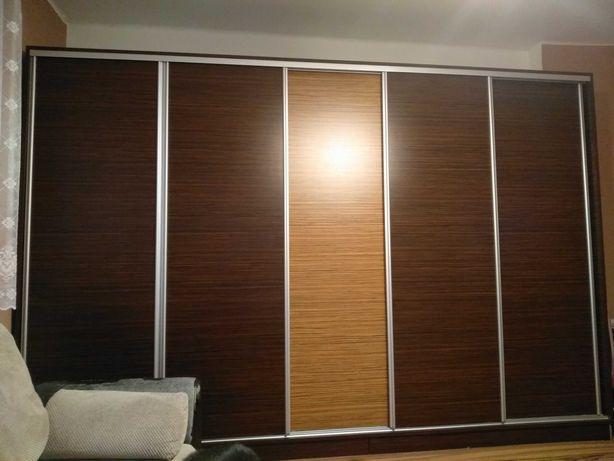 Sypialnia: Duża szafa ubraniowa+łóżko +lustro