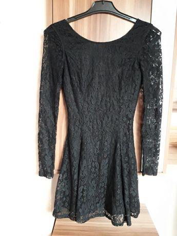 H&M 36 mała czarna koronkowa sukienka