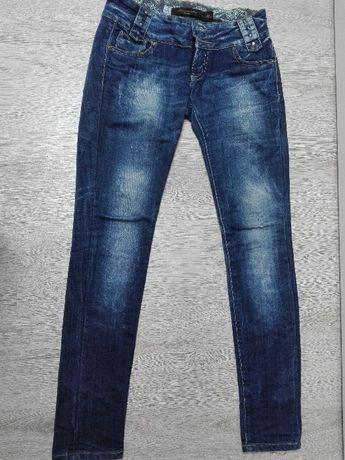 Spodnie Jeans z przetarciami r.L