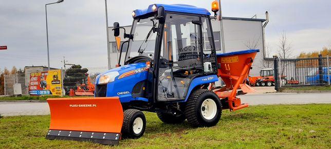Iseki TXG237,komunalny traktorek,Pług śnieżny JAPAN TRAK