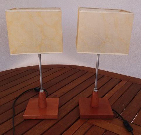 3 candeeiros mesa cabeceira e tecto conjunto NOVOS
