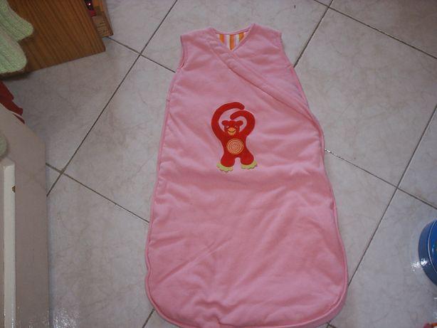 Ninho de bebé/saco-cama, sem mangas 0-6 meses cor de Rosa