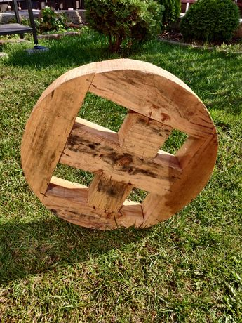 Koła drewniane Dekoracja Ogród Inspiracja