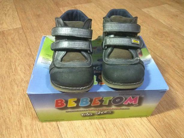 Кожаные ортопедические ботинки bebetom р.21 стелька 13см