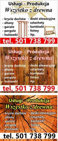 Podbitka deska obiciowa tarasowa wszystko z drewna