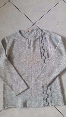 sweter męski, ciepły, zasuwany, szary sweter, logowania