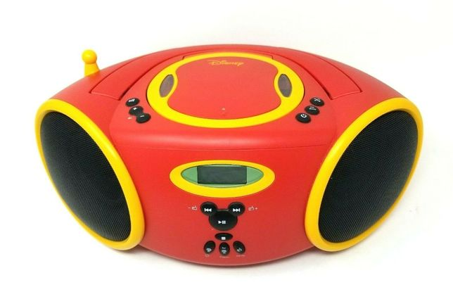 Leitor de Cd+Rádio DISNEY Portatil Mickey Mouse Boombox DB3000-C