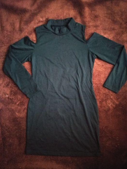 Платье черного цвета с открытыми плечами Херсон - изображение 1