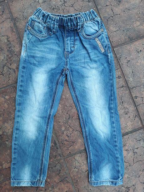 Spodnie,jeansy, rurki 104cm