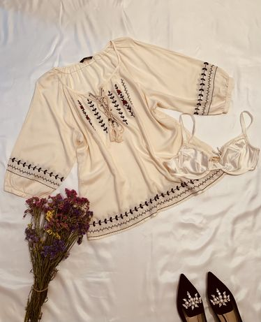 Вишиванка блуза віскозна