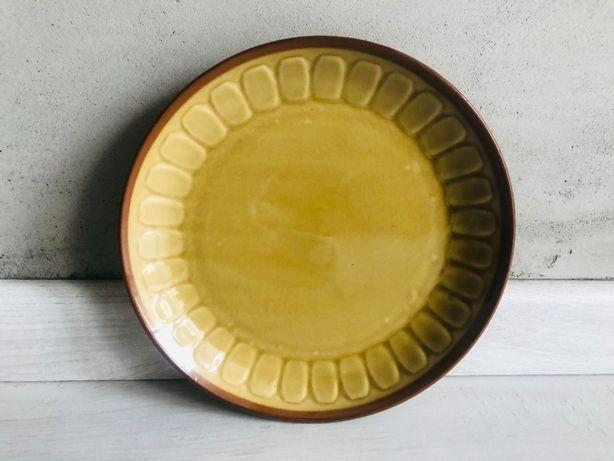 Talerze Tułowice PRL brązowe porcelana talerz 6 sztuk komplet