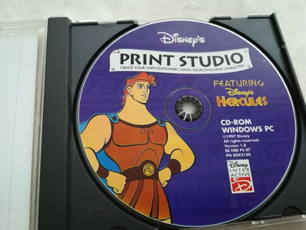 Disney PRINT Studio Featuring Hercules CD-ROM