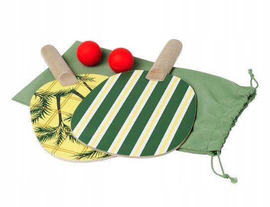 IKEA SOLBLEKT rakietki/paletki do ping ponga/tenisa stołowego + piłki