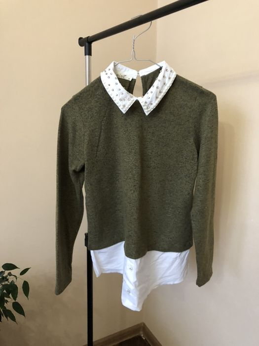 Кофта с рубашкой, имитация рубашки, свитер, реглан, свитшот Киев - изображение 1