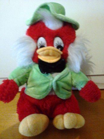 ИГРУШКА-птичка в пиджаке и шляпе.