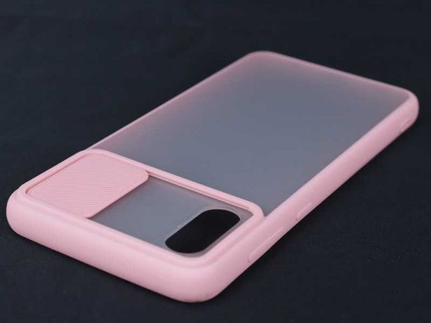 Capa Samsung Galaxy A02 Rígida Bumper Proteção Câmara Rosa *P. GRÁTIS