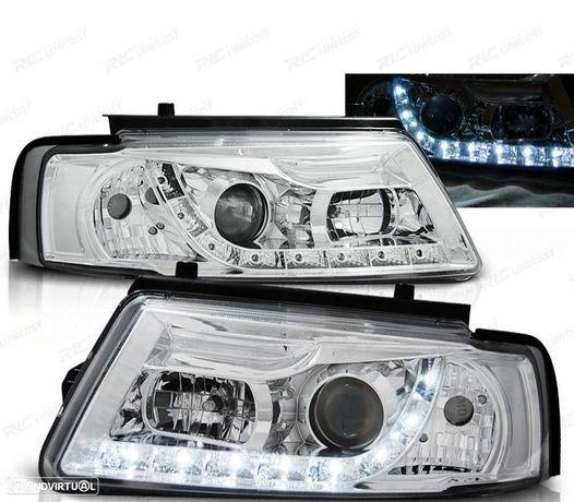 CONJUNTO DE FARÓIS VW PASSAT 3B 96-00DAYLIGHT LED CROMADOS