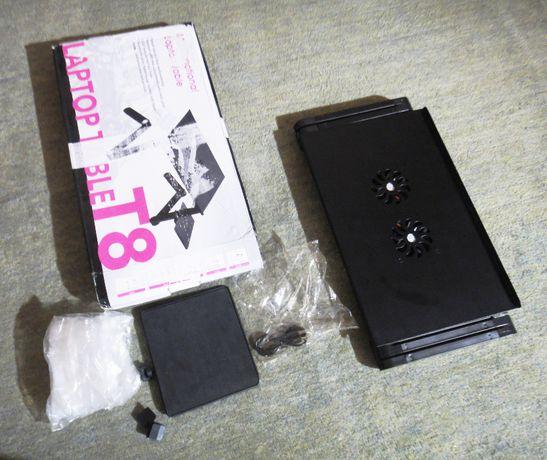 Столик-трансформер для ноутбука, со встроенными куллерами