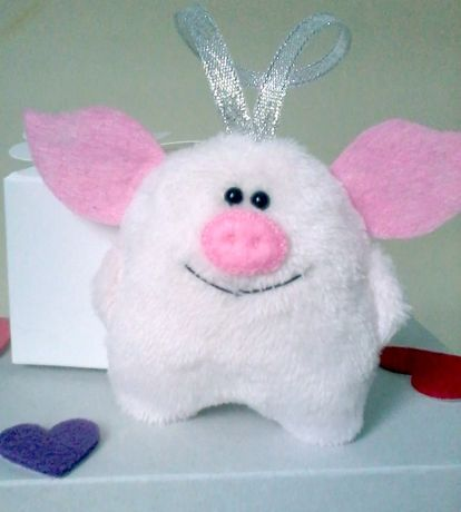 Свинка мягкая игрушка іграшка подарок декор ручная работа новый год