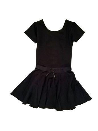 Комплект для танцев DANSKIN США купальник юбка 2,4,6,8 лет черный белы