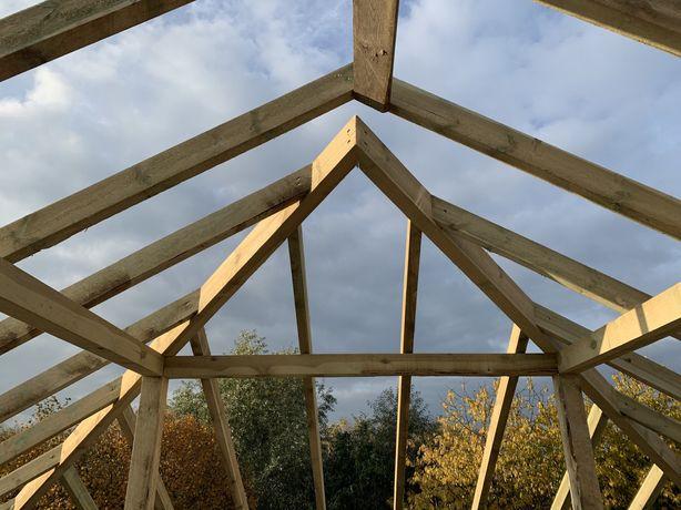 Usługi Ciesielskie Dachy Więźba dachowa konstrukcja docieplanie poddas