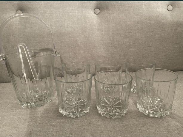 6 szklanek i wiaderko na lód nowe Pasabahce jak z home&you