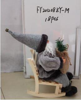mikołaj na krzesle bujaku 30 cm