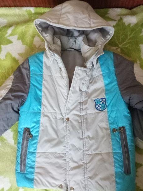 Осенняя демисезонная куртка для мальчика 5-6 лет, 110-116 см