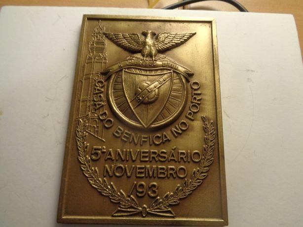 Medalha Futebol Sport Lisboa E Benfica 10x7cm Of.Envio