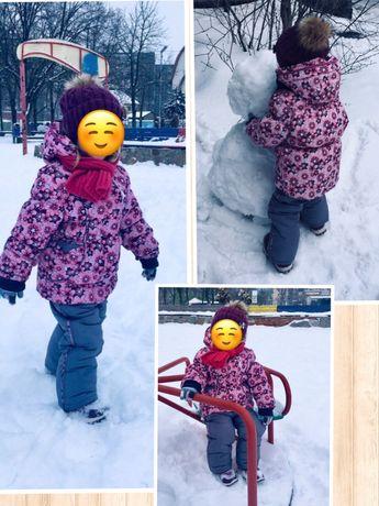 Зимний комбинезон с курткой(костюм),шарф в подарок