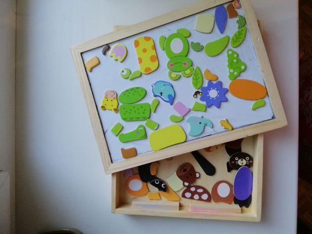 Магнитная доска с фигурками для детей от 2-х лет